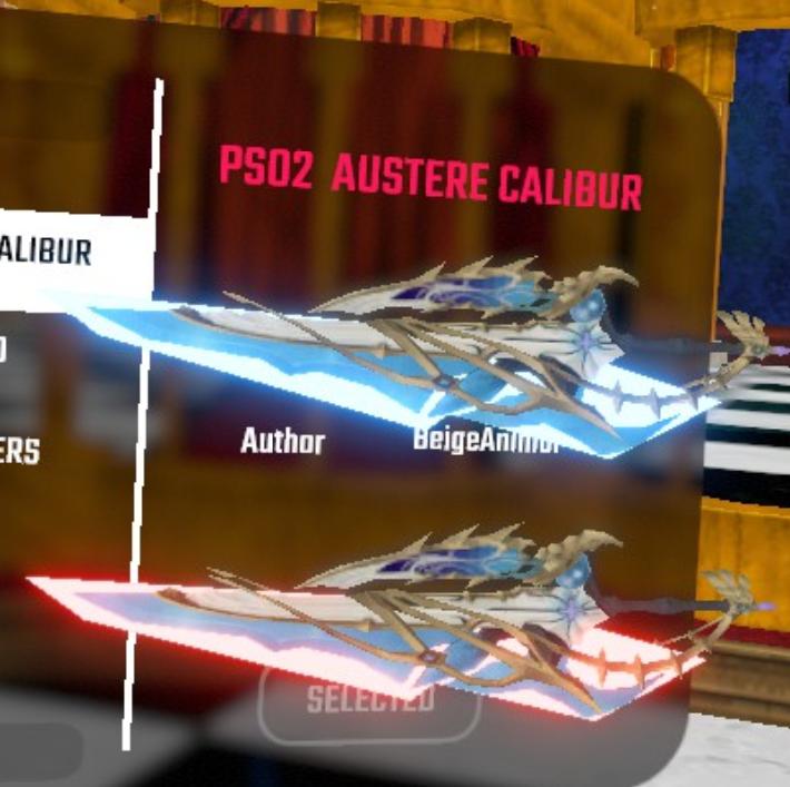 دانلود مدل شمشیر Austere Calibur برای بازی بیت سیبر Beat Saber