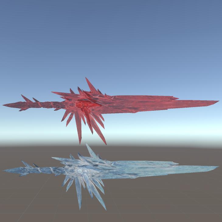 دانلود مدل شمشیر Aurora's Ice Sword برای بازی بیت سیبر Beat Saber