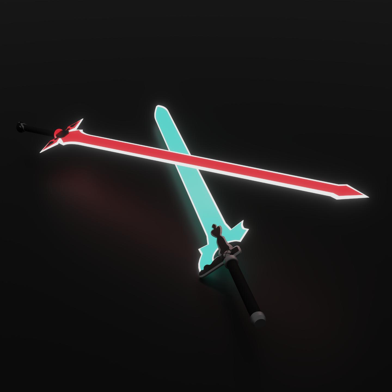 Kirito's Swords - SAO (CC)